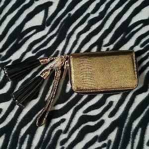 Deux lux gold wallet/wristlet